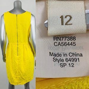 J. Crew Dresses - J.CREW Basket Weave Sheath Dress Yellow Waffle